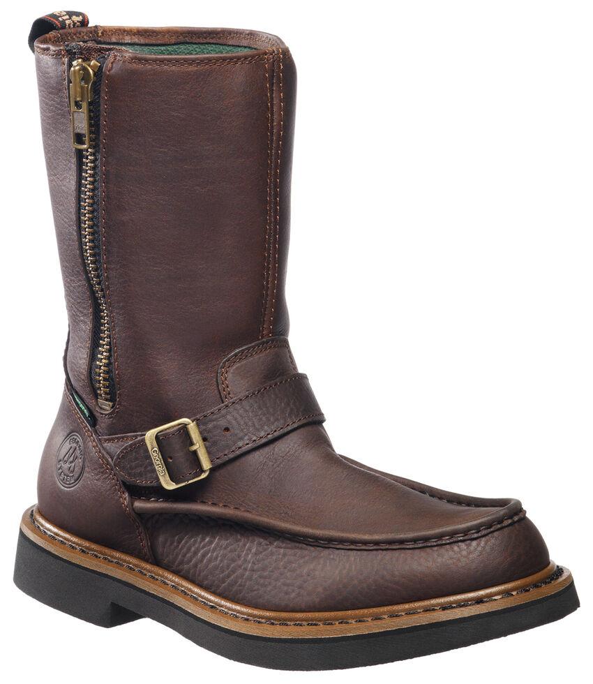 1d6896877d17f1 Geia Side Zip Waterproof Wellington Work Boots Round Toe Sheplers