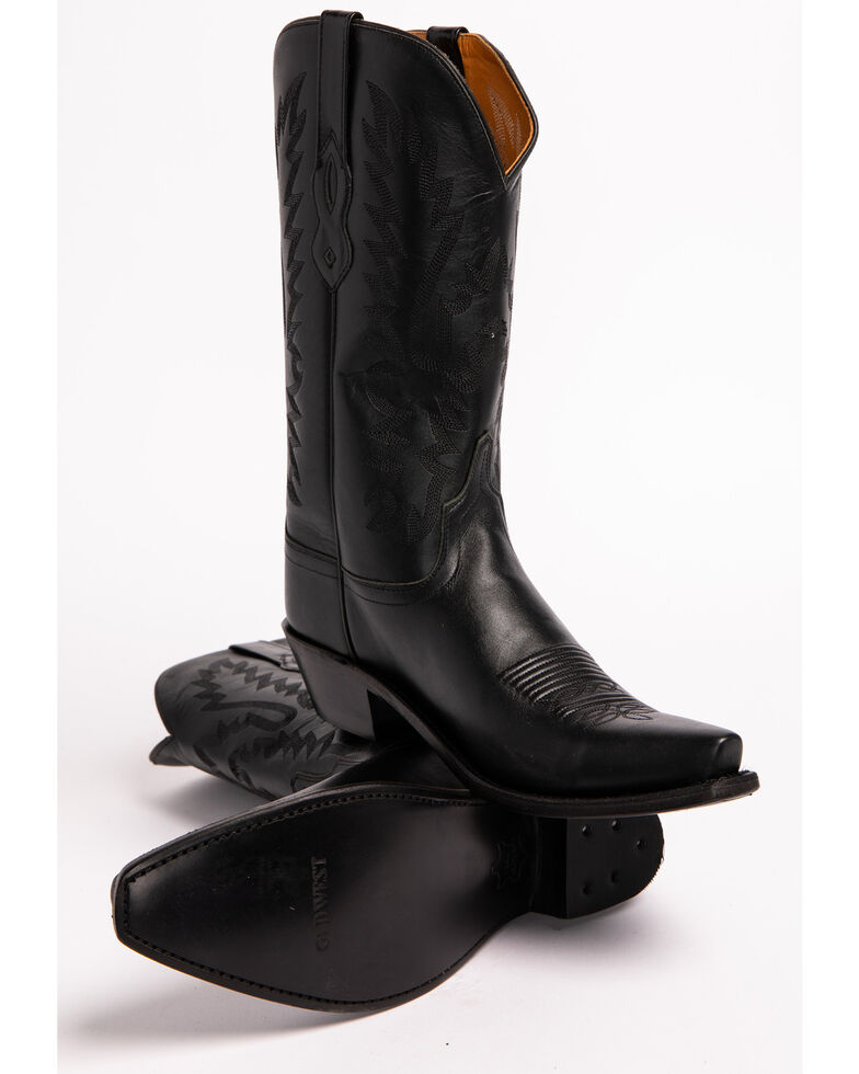 Old West Fashion Cowgirl Boots, Black, hi-res