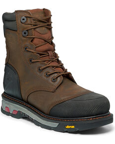 "Justin Men's Tan Warhawk Waterproof 8"" Work Boots - Composite Toe , Tan, hi-res"
