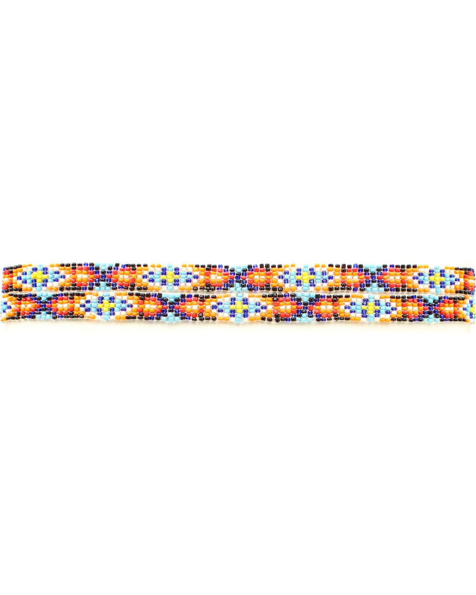 Multi Color Beaded Hatband, Multi, hi-res