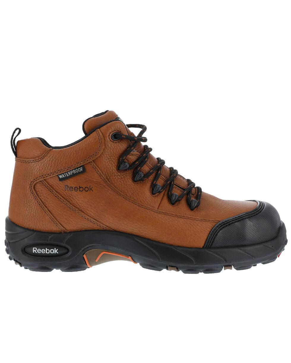 Reebok Men's Tiahawk Sport Hiker Waterproof Work Boots - Composite Toe, Brown, hi-res