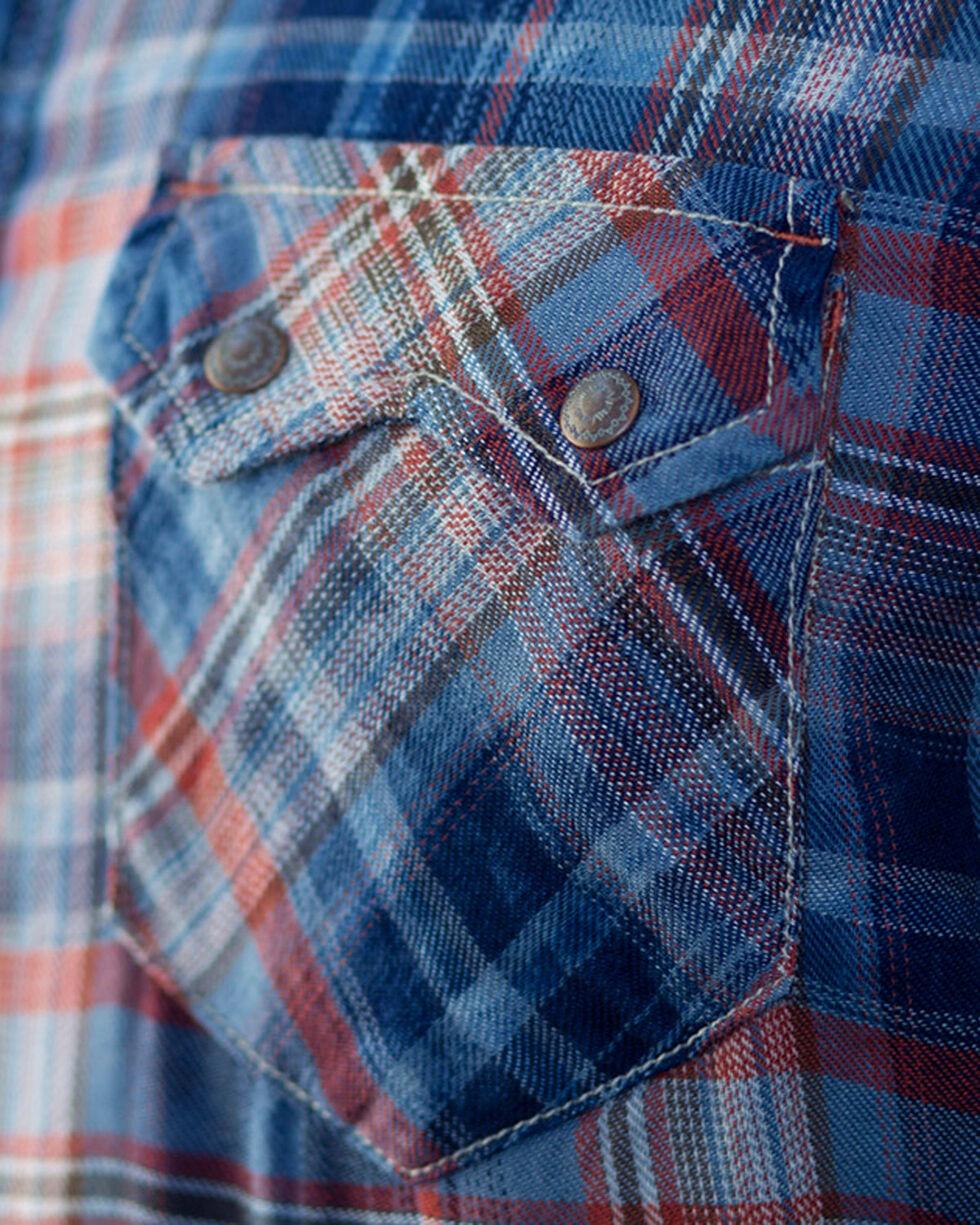 Ryan Michael Men's Indigo Clay Plaid Shirt , Indigo, hi-res