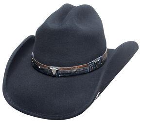 Bullhide Biting the Dust Hat, Black, hi-res