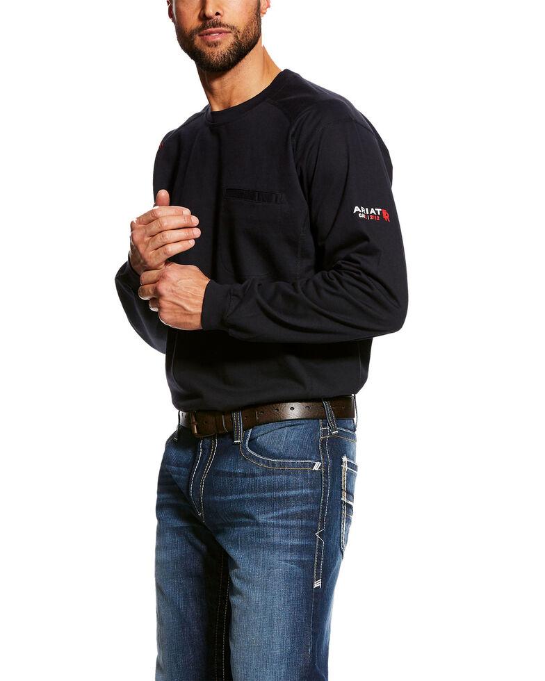 55429d88 Ariat Men's Black FR Air Crew Long Sleeve Work Shirt