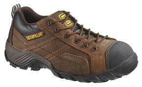 Caterpillar Women's Argon Work Shoes - Composite Toe, Dark Brown, hi-res