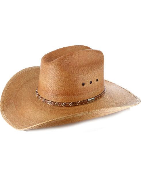 Larry Mahan Men's 30X Saltillo Palm Cowboy Hat, Natural, hi-res