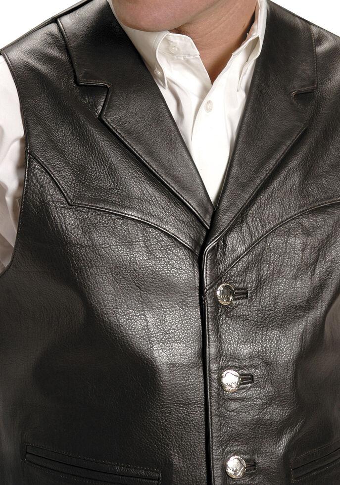 Roper Men's Nappa Notched Collar Leather Vest - Big & Tall, Brown, hi-res