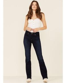 Levi's Women's Distressed Dark Wash Classic Bootcut Jeans, Blue, hi-res