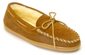 Minnetonka Pile Lined Hardsole Moccasins - XL(14-16), Brown, hi-res