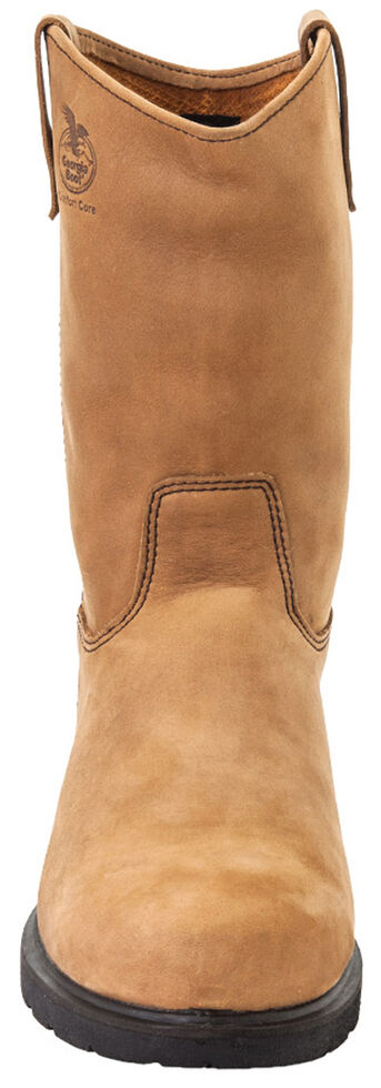 Georgia Farm and Ranch Wellington Boots - Round Toe, Tan, hi-res