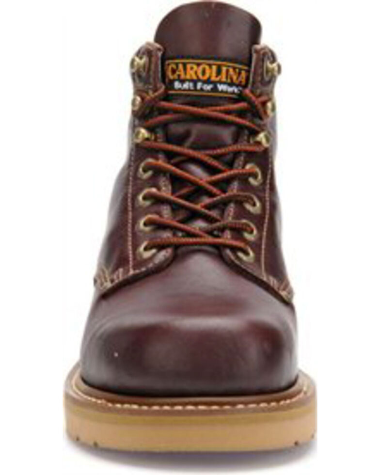 Carolina Men's Brown Wedge Work Boots - Broad Toe, Black Cherry, hi-res