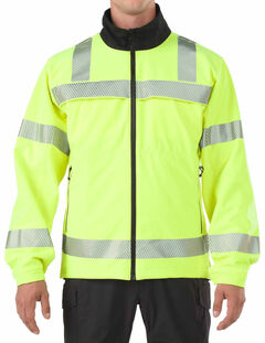 5.11 Tactical Reversible High-Vis Softshell Jacket - 3XL, Yellow, hi-res