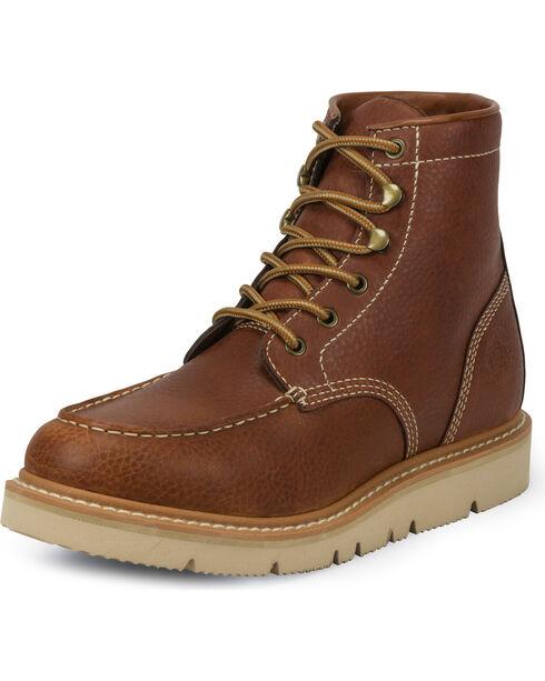Justin Men's Jacknife 6 Inch Work Boot - Moc Toe , Tan, hi-res