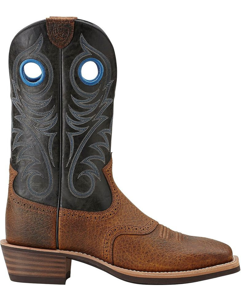 Ariat Heritage Rough Stock Cowboy Boots - Wide Square Toe, Earth, hi-res