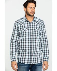 Cody James Men's Elsworth Small Plaid Long Sleeve Western Shirt , White, hi-res