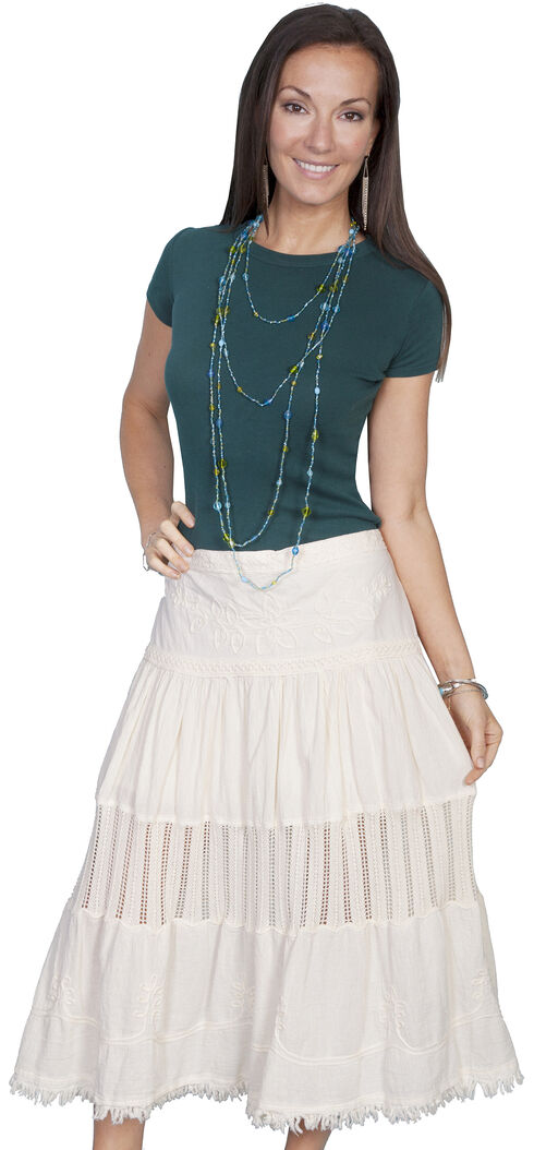 Scully Crocheted Panel Skirt, Natural, hi-res