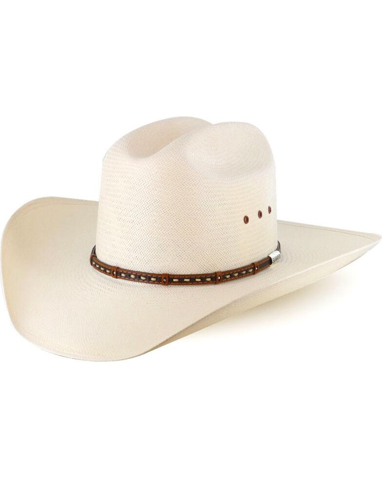 Stetson Men's 10X Natural Gunfighter Straw Cowboy Hat, Natural, hi-res
