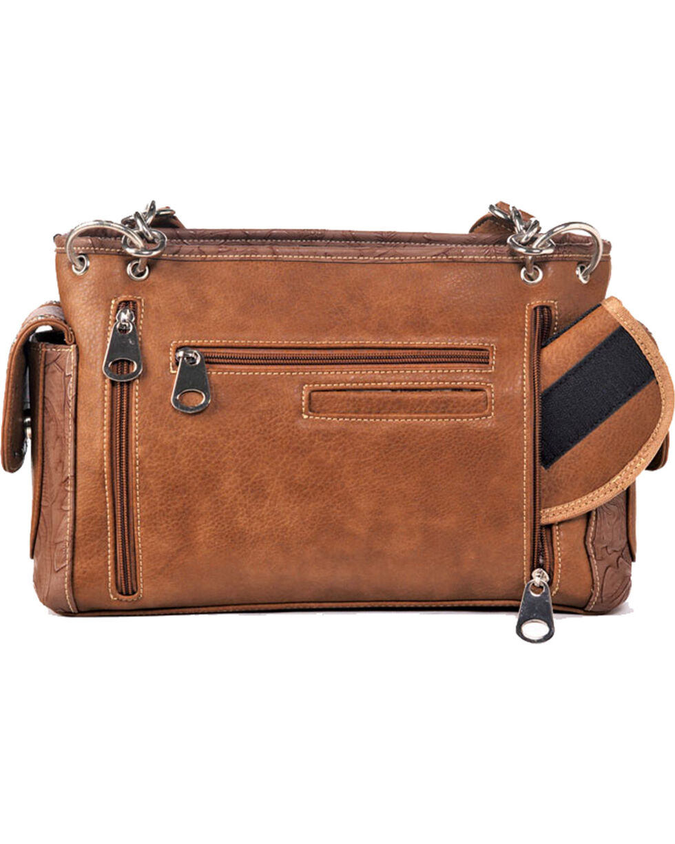 Blazin Roxx Rhianna Conceal Carry Satchel, Brown, hi-res