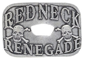 Cody James Men's Redneck Renegade Bottle Opener Buckle, Silver, hi-res