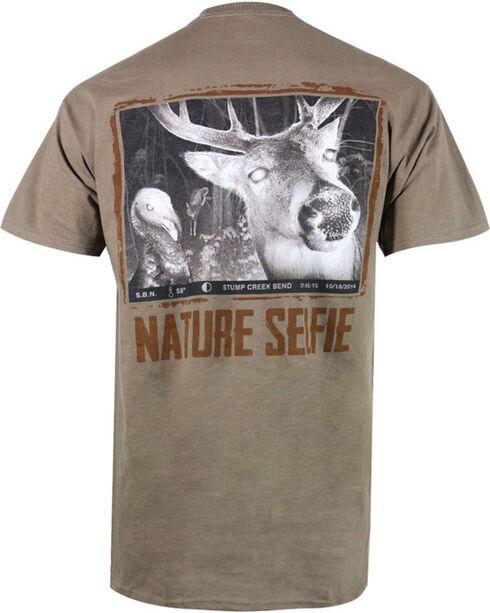 Nature Selfie Men's Light Brown Whitetail Selfie T-Shirt , Lt Brown, hi-res