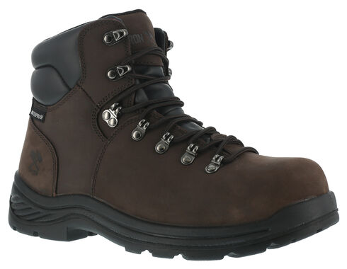 Iron Age Waterproof Hiking Work Boots - Composition Toe, Brown, hi-res