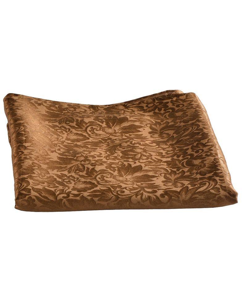 Brown Jacquard Silk Wild Rag, Brown, hi-res