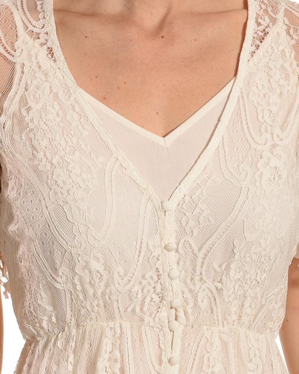 Shyanne Women's Allover Lace Button-Down Maxi Dress, White, hi-res