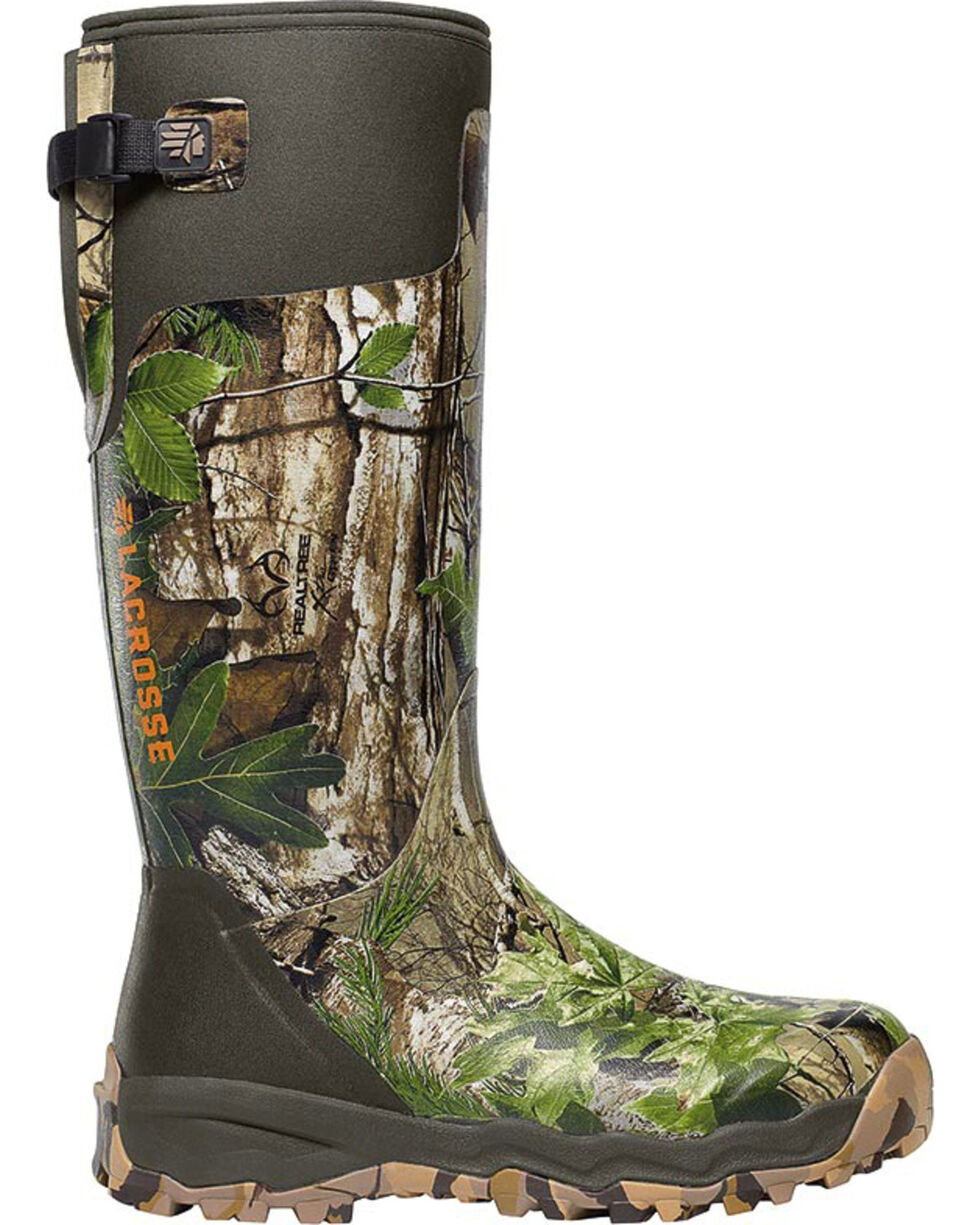 LaCrosse Women's Alphaburly Pro Realtree Xtra Hunting Boots - Round Toe , Brown, hi-res
