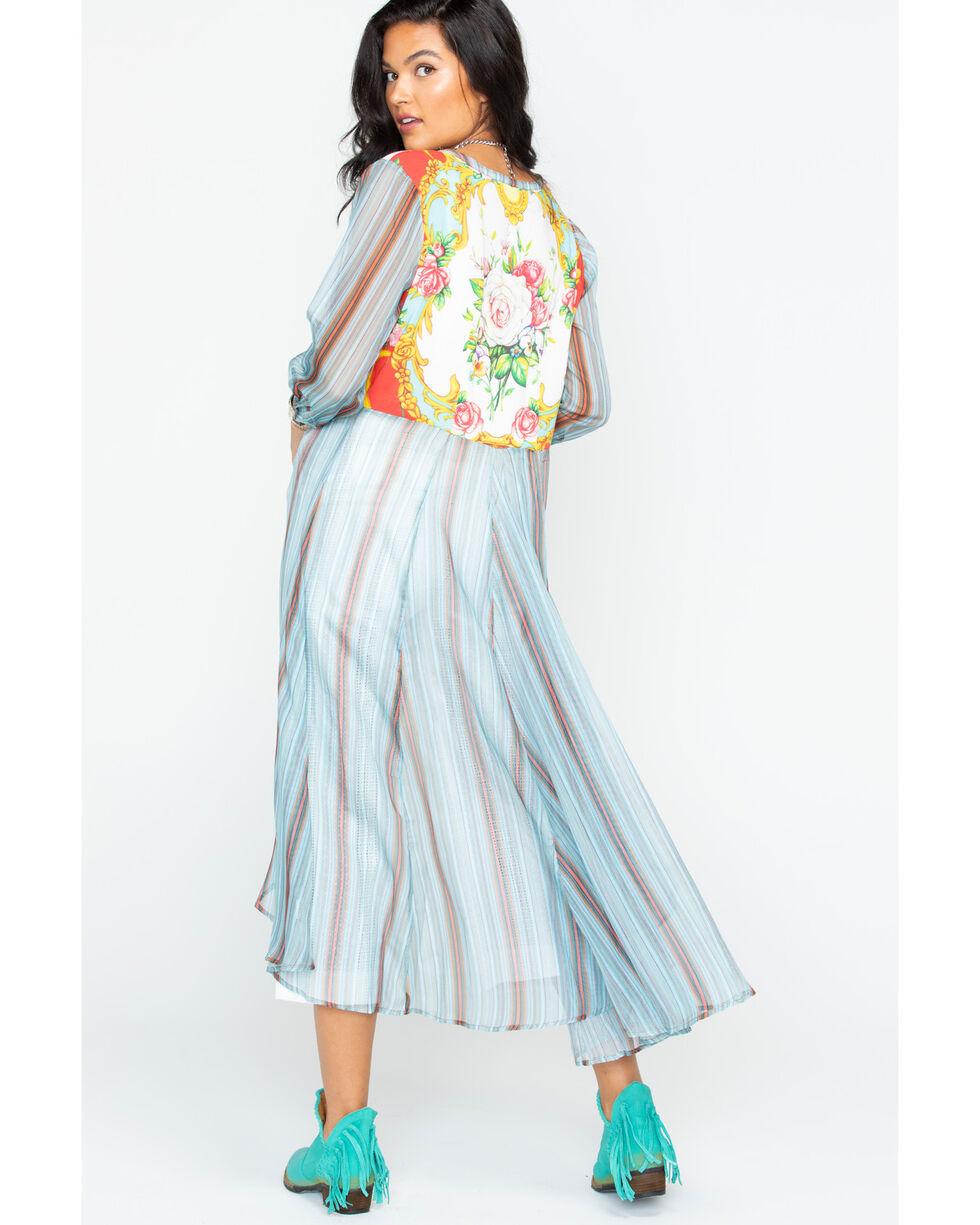 Aratta Women's Teal Top Notch Shirt Dress , Teal, hi-res