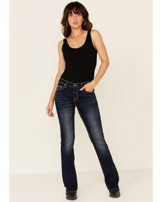 Rock & Roll Denim Women's Dark Wash Riding Jeans, Blue, hi-res