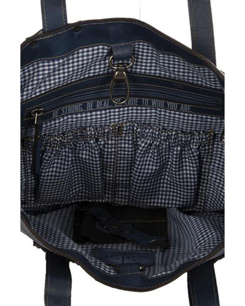 STS Ranchwear Women's Denim Leather Tote Bag, Blue, hi-res