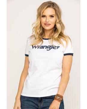 Wrangler Women's White Wrangler Ringer Tee, White, hi-res