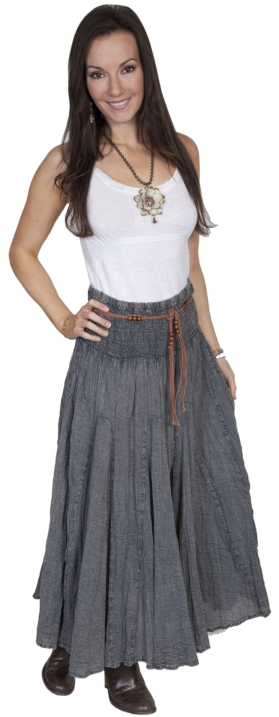 Scully Cantina Collection Full Length Skirt, Charcoal Grey, hi-res