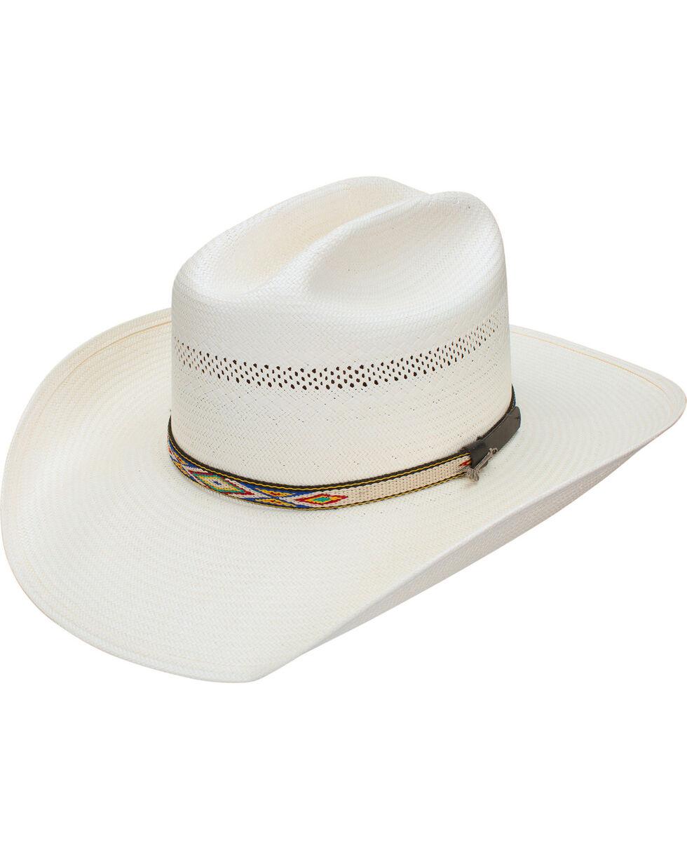 Stetson Men's Cheveyo 8X Straw Vented Cowboy Hat, Natural, hi-res