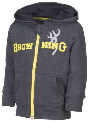 Browning Toddler Boys' Black Otter Hooded Sweatshirt, Black, hi-res