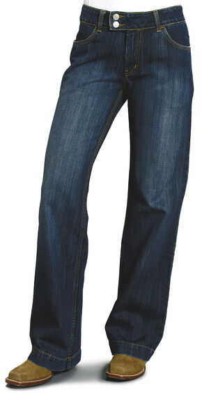 "Stetson Women's 214 Fit City Trouser Jeans - 33"" Long, Denim, hi-res"