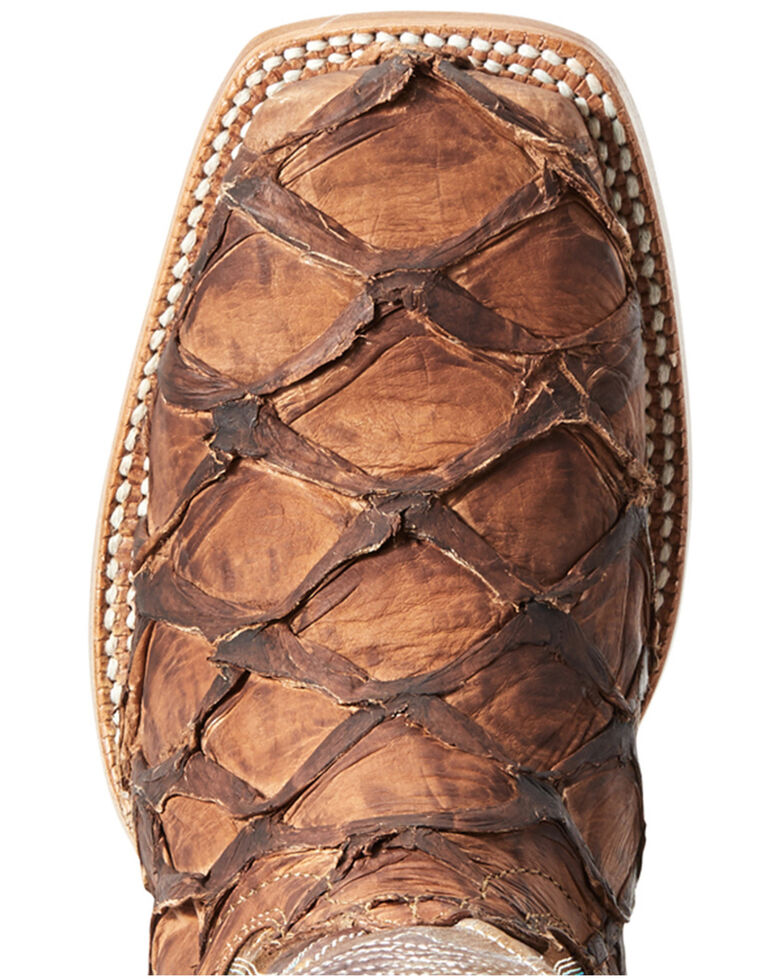Ariat Women's Vaquera Exotic Pirarucu Western Boot - Wide Square , Brown, hi-res