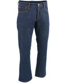 "Milwaukee Leather Men's Blue 32"" Aramid Infused 5 Pocket Loose Fit Jeans - Big, Blue, hi-res"