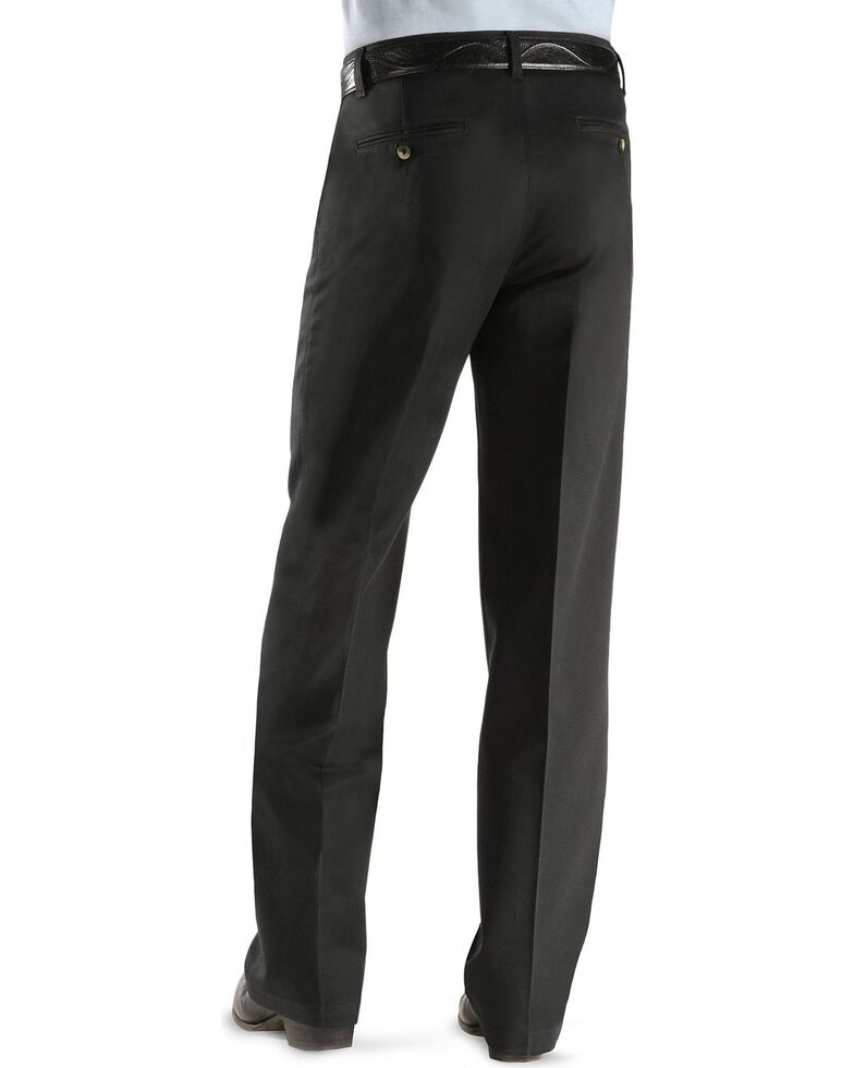Wrangler Riata Flat Front Slacks, Black, hi-res