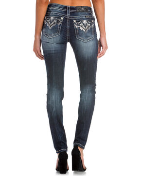 Miss Me Women's Indigo Broken Dreams Embellished Pocket Jeans - Skinny , Indigo, hi-res