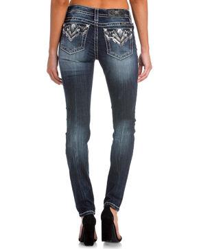 Miss Me Women's Indigo Broken Dreams Embellished Pocket Jeans - Skinny , Indigo, hi-res