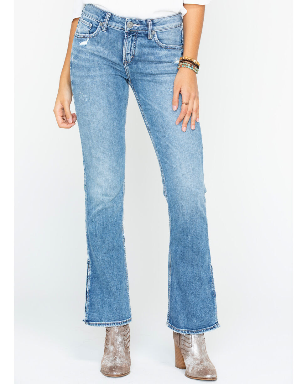 Silver Women's Avery Slim Fit Boot Cut Jeans , Indigo, hi-res