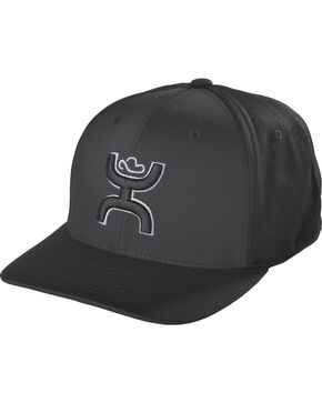 HOOey Men's Black Mosaic Baseball Cap , Black, hi-res