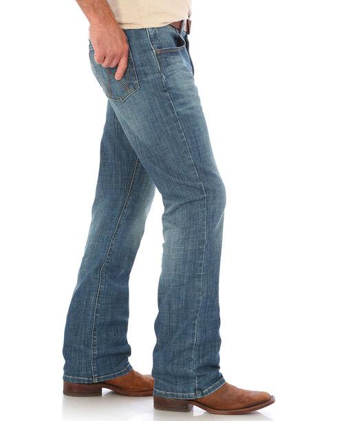 Wrangler Men's Blue Retro Relaxed Laughlin Jeans - Boot Cut , Medium Blue, hi-res