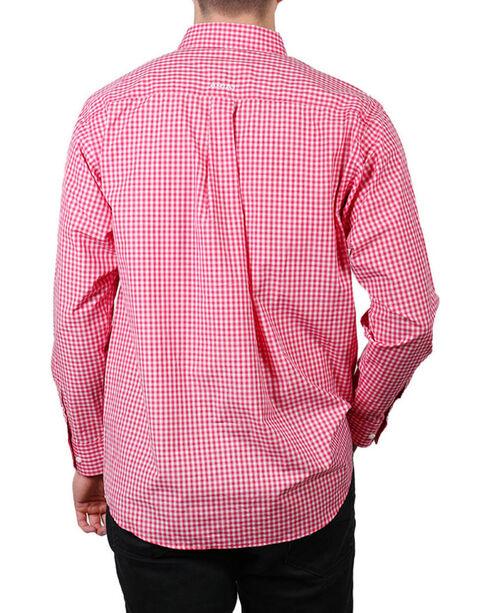 Ariat Men's Rose Red Newbury Long Sleeve Plaid Shirt , Red, hi-res