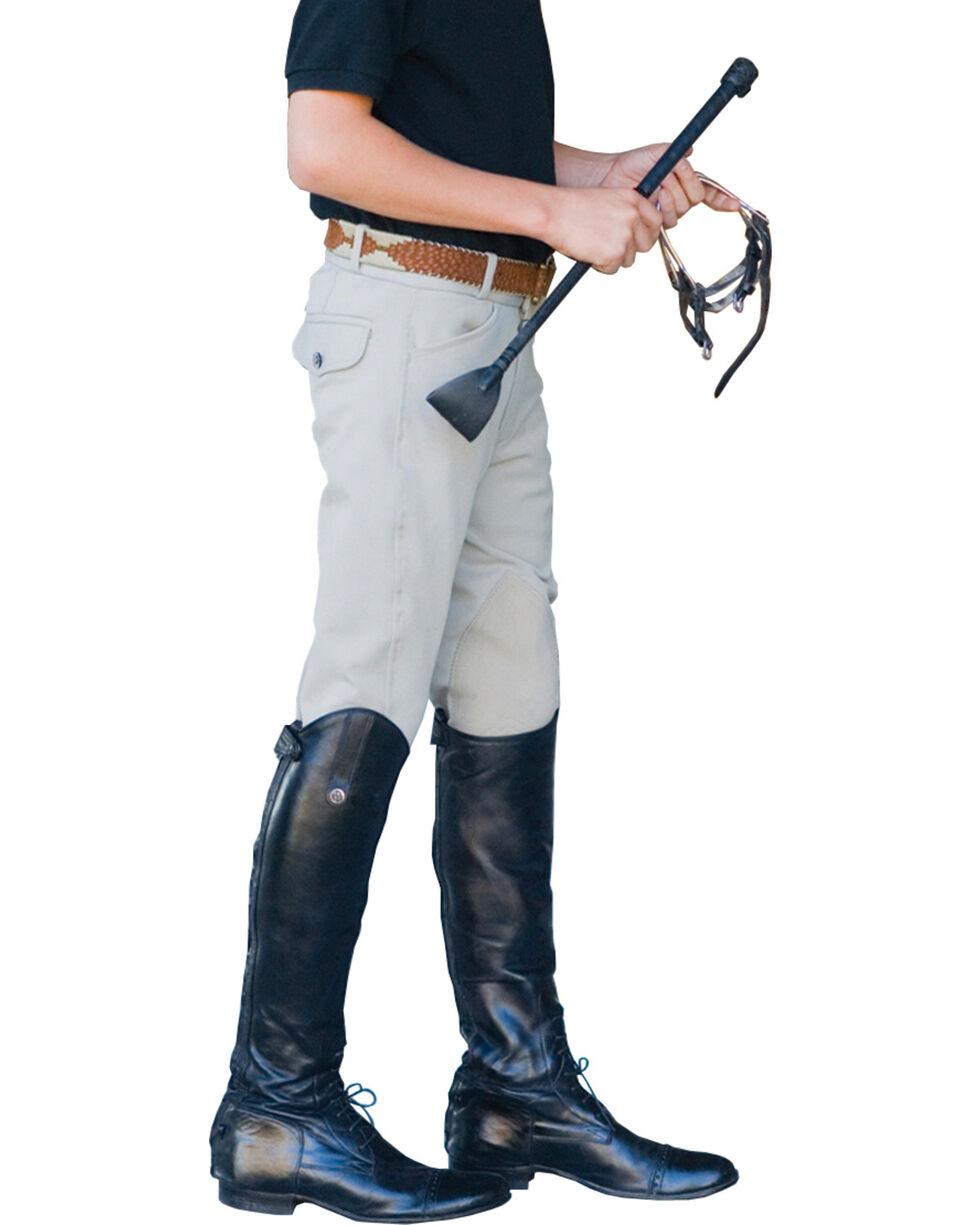 Ovation Boys' Euroweave Four Pocket Breeches, Beige, hi-res