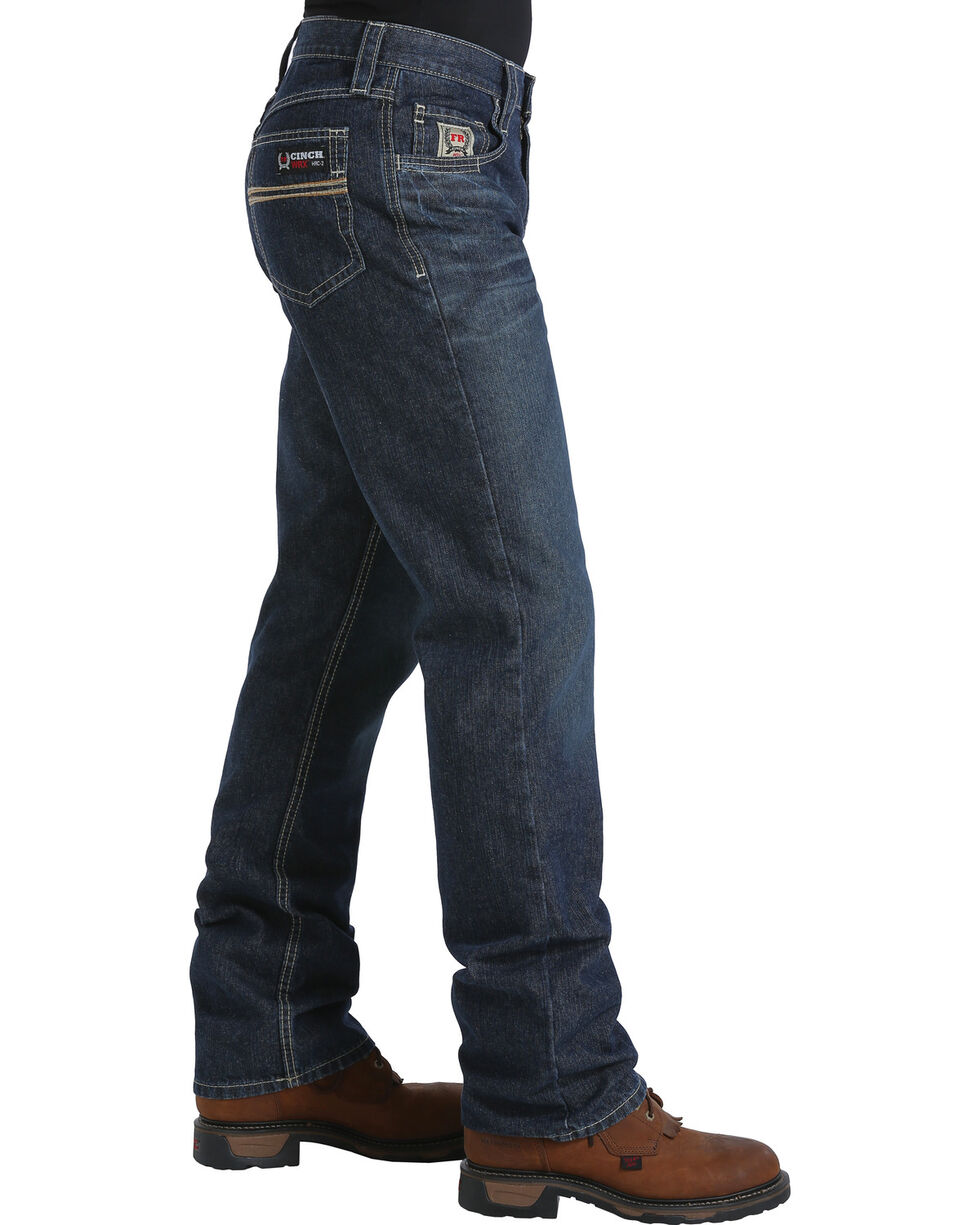 Cinch Men's Dark Blue White Label Carter WRX FR Jeans - Straight Leg , Dark Blue, hi-res