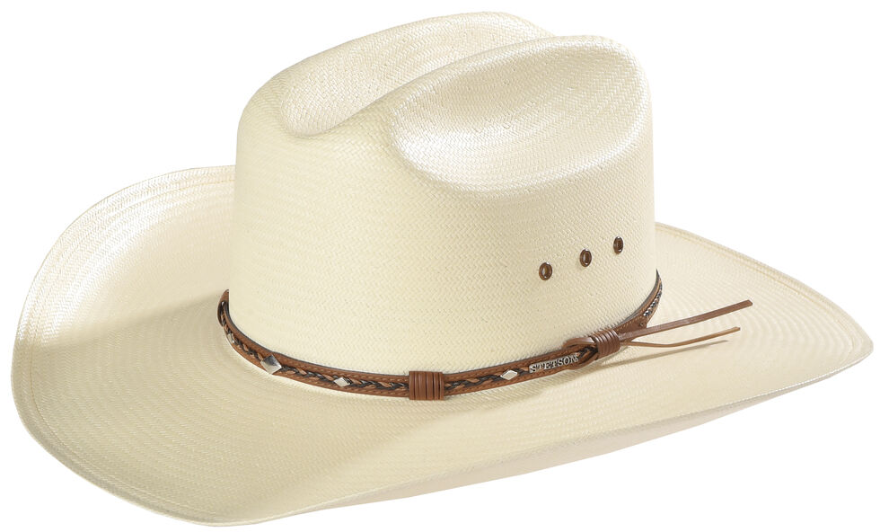 3a26a54c Zoomed Image Stetson 8X Ocala Wide Brim Straw Hat, Natural, hi-res
