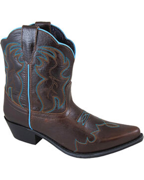 Smoky Mountain Women's Dark Brown Juniper Western Boots - Snip Toe, Dark Brown, hi-res