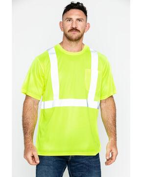 Hawx Men's Short Sleeve Reflective Work Tee , Yellow, hi-res